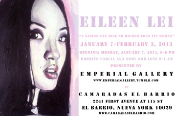 "Eileen Lei's first solo show: ""A Nation Can Rise No Higher Than Its Woman"""